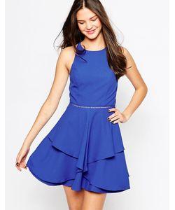Adelyn Rae | Короткое Приталенное Платье Синий