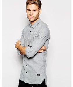 Esprit | Узкая Серая Рубашка Из Фланели