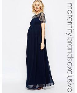 Maya Maternity | Шифоновое Платье Макси Для Беременных С Отделкой