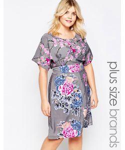 Yumi Plus | Цельнокройное Платье С Цветочным Принтом