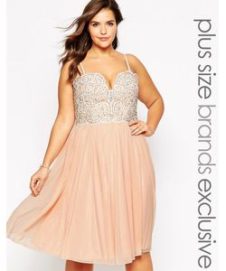 Forever Unique Plus | Платье Размера Плюс С Декорированным Лифом