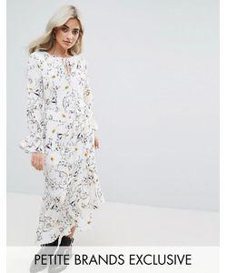 Glamorous Petite | Платье Макси С Цветочным Принтом И Асимметричным Краем