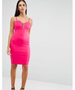 AX Paris | Облегающее Платье С Глубоким Вырезом И Отделкой