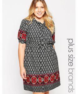 Yumi Plus | Платье-Рубашка С Принтом Size
