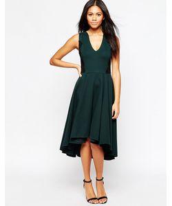 Hazel | Приталенное Платье Миди С V-Образным Вырезом