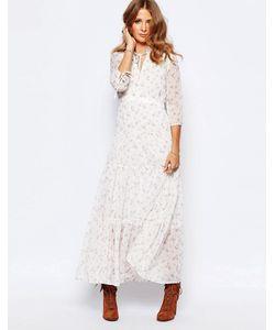 Millie Mackintosh | Платье Макси С Цветочным Принтом Victoriana Кремовый