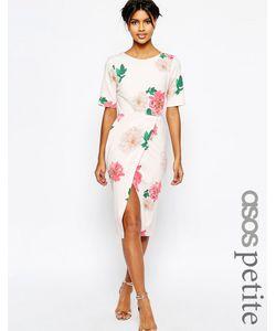 ASOS PETITE | Платье С Запахом Спереди И Цветочным Принтом Occasion