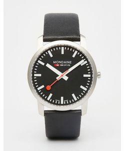Mondaine | Часы С Кожаным Ремешком 41 Мм Черный