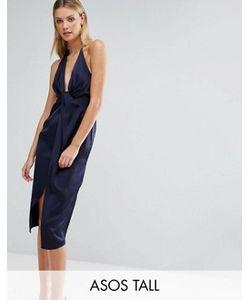 ASOS TALL | Платье Миди На Бретелях С Перекрученной Отделкой