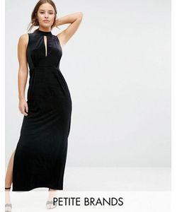 Vero Moda Petite | Бархатное Платье Макси С Кружевной Вставкой Сзади