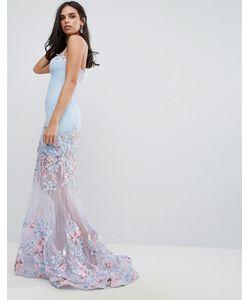 FOREVER UNIQUE | Платье Макси С Вырезом Сердечком И Цветочным Принтом