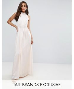 Little Mistress Tall   Плиссированное Платье Макси Для Выпускного С Оборкой