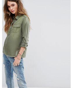 Hollister   Рубашка В Стиле Милитари