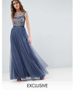 Needle & Thread | Платье Макси С Цветочной Вышивкой Needle And Thread