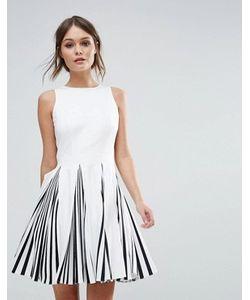 FOREVER UNIQUE | Черно Короткое Приталенное Платье