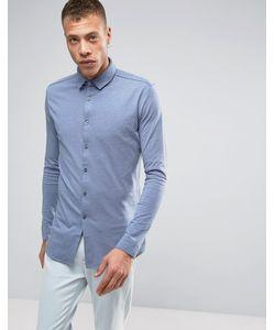 Lindbergh | Синяя Трикотажная Рубашка С Длинными Рукавами