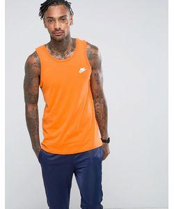 Nike | Оранжевая Майка С Необработанным Краем 847558-856