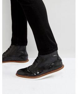House of Hounds | Черные Кожаные Ботинки На Шнуровке