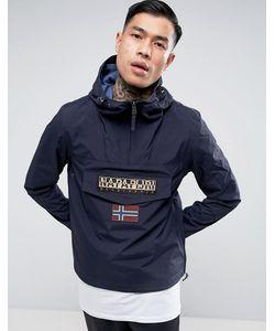 Napapijri | Темно-Синяя Нейлоновая Куртка С Капюшоном Rainforest
