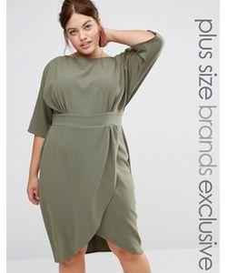 Closet Plus | Платье С Запахом Спереди