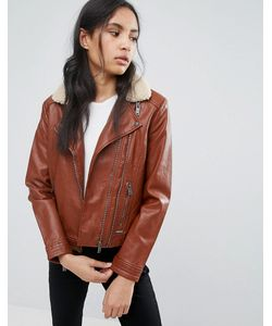 Pepe Jeans London   Куртка-Авиатор Из Полиуретана Penty