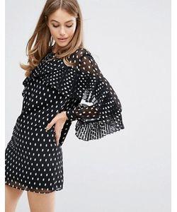 Keepsake | Платье В Горошек С Плиссировкой