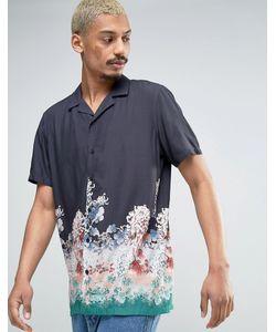 Asos | Вискозная Рубашка Классического Кроя С Цветочным Принтом