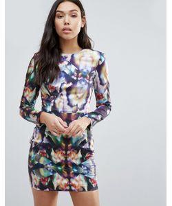 Tallulah | Облегающее Платье С Длинными Рукавами И Принтом Just For Tonight