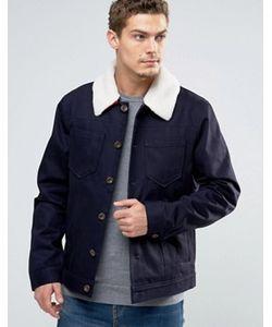 Esprit | Джинсовая Куртка С Меховым Воротником