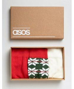 Asos | 3 Пары Носков В Подарочной Упаковке