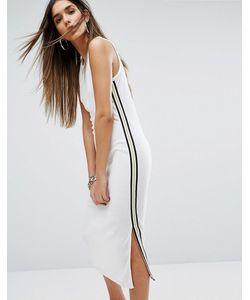 Juicy Couture | Платье Из Махровой Микрофибры С Полосками Label Trk