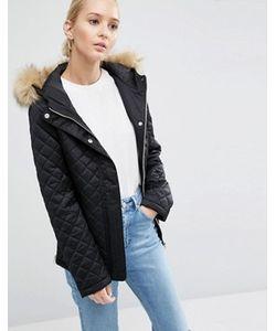 Asos | Дутая Куртка С Искусственным Мехом