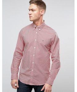 Tommy Hilfiger | Рубашка Классического Кроя В Клеточку С Воротником На Пуговицах