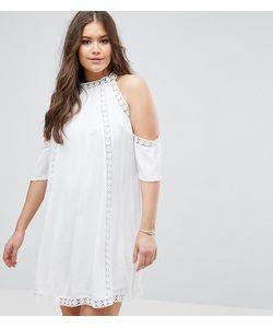 Boohoo Plus | Платье С Открытыми Плечами И Ажурной Отделкой