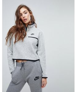Nike | Трикотажный Свитшот С Короткой Молнией