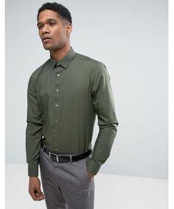 Calvin Klein | Стретчевая Рубашка Суперзауженного Кроя