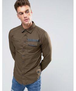 Blend | Рубашка Узкого Кроя В Стиле Милитари
