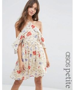 ASOS PETITE | Платье Мини С Вырезами На Плечах И Винтажным Принтом