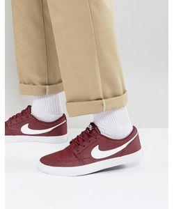 Nike SB | Бордовые Кроссовки Portmore Ii 880269-610