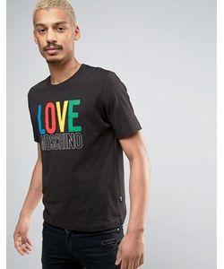 Love Moschino | Футболка С Разноцветным Логотипом