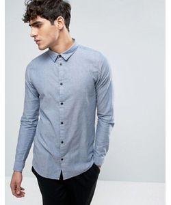 Dr. Denim | Синяя Узкая Рубашка Dr Denim Damian