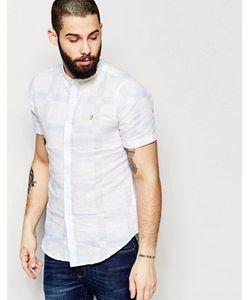 Farah | Приталенная Рубашка В Клетку С Короткими Рукавами