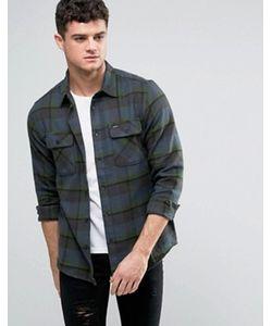Rvca | Фланелевая Рубашка С Карманами С Клапанами