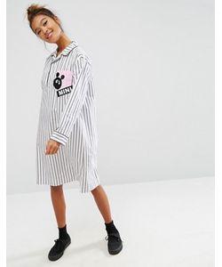 Mini Cream | Платье-Рубашка В Полоску В Пижамном Стиле