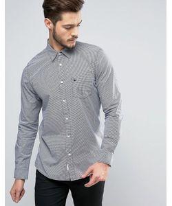 Jack Wills | Темно-Синяя Рубашка Классического Кроя В Клетку Salcombe Nevis