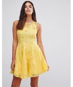 AX Paris | Кружевное Короткое Приталенное Платье