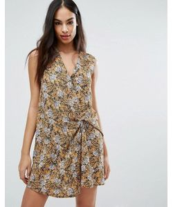 MISSGUIDED | Платье Мини С Цветочным Принтом И Узлом Спереди