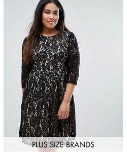 Praslin | Кружевное Приталенное Платье Plus