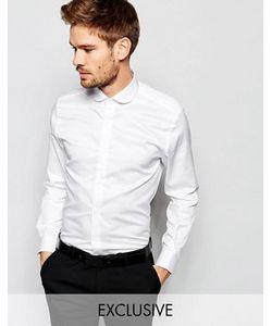 Number Eight Savile Row | Эксклюзивная Зауженная Рубашка С Закругленным Воротником