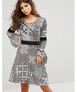 Rock & Religion | Свободное Платье Со Шнуровкой И Принтом Пейсли